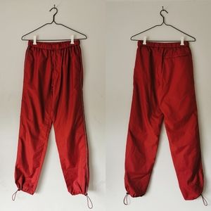 Red Uniqlo Track Pants